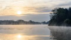 Stausee Hullern im Frühnebel II (webpinsel) Tags: frühling halternamsee hullern landschaft mogensonne morgenstimmung natur see sonnenaufgang stausee