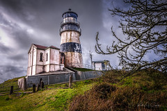 Cape Disappointment, WA (www.kjc.photos) Tags: cape disappointment lighthouse washington landscape sky wide angle light