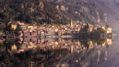 Varenna (Iván F.) Tags: explore exploration explorer italy italia sunset sundown atardecer varenna lake como old europe reflection water sun beautiful awesome sony zeiss travel tourism photography