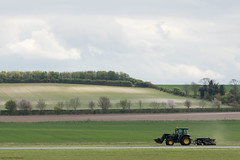Tractor (Canon_Snapper) Tags: duxford tractor scenery fields farmmachinery