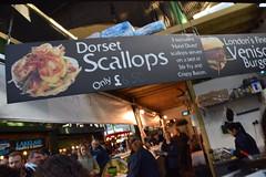 DSC_3523 London Borough Market Southwark Three Dorset Scallops ONLY £6.50! (photographer695) Tags: london borough market southwark three dorset scallops only £650