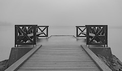 Small bridge at Nacka Strand in the mist (Daniel BJ Bengtsson) Tags: 2where 3subject 6other bridge citypostaladress country county mist stockholm sweden