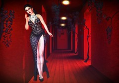 Room 418 (Spirit Eleonara) Tags: second life photography light shadow colour blueberry zibska dress red