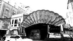 台中街景 Streetscape 256(Taichung, Taiwan) (rightway20150101) Tags: 台中街景 streetscape taichung taiwan street 紅地氈西餐廳 redˍcarpetˍwesternˍrestaurant monochrome 單色 bw 黑白