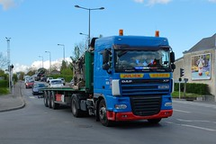 """DAF XF 105.410 Semi-Remorque Plateau """"Transports JULIEN"""" (F-76) (xavnco2) Tags: longueau somme picardie france camion truck trucks lorry autocarro lkw bleu blue semiremorque plateau flatbed semitrailer daf xf xf105 410"""