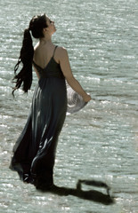 Walking on Water (coollessons2004) Tags: krystalsmith woman lake water beauty elegant elegance mystical