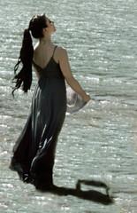 Walking on Water (coollessons2004) Tags: krystalsmith woman lake water beauty elegant elegance mystical