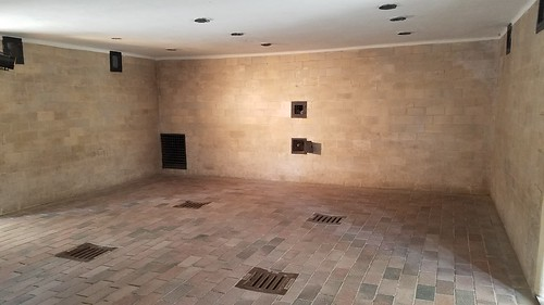The gas chambers at Dachau Concentration Camp, Munich, Germany