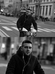[La Mia Città][Pedala] con il BikeMi (Urca) Tags: milano italia 2017 bicicletta pedalare ciclista ritrattostradale portrait dittico bike bicycle biancoenero blackandwhite bn bw 993141 nikondigitale scéta bikemi bikesharing