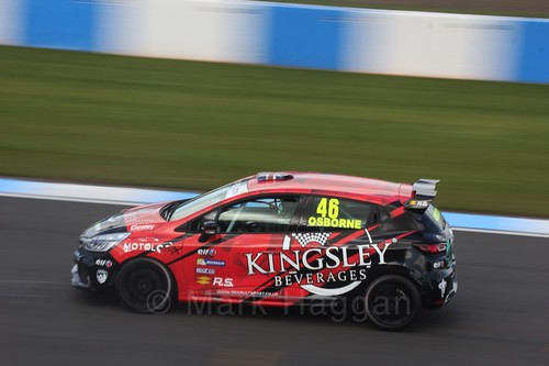 Sam Osborne in Clio Cup qualifying during the BTCC Weekend at Donington Park 2017: Saturday, 15th April