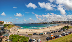 Bondi Beach (Anthony's Olympus Adventures) Tags: sydney nsw newsouthwales australia beach sand water ocean sea shore sandy waves pacificocean day sky pano panoramic panorama photo photography photograph photogenic olympusem10 olympus olympusomd microfourthirds travel beautiful spectacular shoreline bondi bondibeach