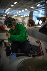 170428-N-VN584-042 (U.S. Pacific Fleet) Tags: usstheodoreroosevelt cvn71 underway vn584 alex corona aviationelectrionicstechnician at routine maintenance fa18fsuperhornet mightyshrikes strikefighterattacksquadron vfa 94 hangarbay