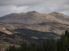 The Textured Land 1 - Crianlarich April 2017 (GOR44Photographic@Gmail.com) Tags: crianlarich scotland ben more trees gor44 panasonic g2 45150mmf456 mountains cloud highlands