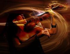 Rock Symphonie n°1: La Rage (Sabine-Barras) Tags: people personnes violon violin conceptual red rouge musique music
