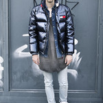 Winter Jacket Model in Air Force One Sneakers thumbnail