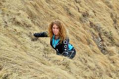 Me, climbing a slippery slope :-) - Buco di Tom - Ticino - Svizzera (Felina Photography - in Ticino:-)) Tags: hiking montura ticino tessin alps alpi montagna mira jacket giacca bucoditom donna svizzera switzerland suisse schweiz zwitserland ritòm