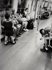 LIFE ON TRAIN series. Mobile shot 20170424 (chunghj) Tags: blackandwhite mobilephotography people life exploration documentary