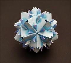 Lana Kusudama (JF123456) Tags: lanakusudama nataliaromanenko modularorigami modular kusudama harmonypaper jongienara floralharmonycoloredpaper