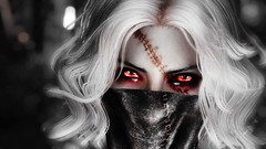 20170424170104_1 (skylaskyrim) Tags: macabre skyrim elder scrolls pinup model stiches horror pose video game