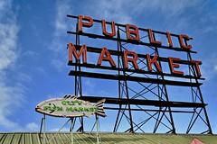 Pike Place Market Seattle (Beautification Syndrome) Tags: seattle publicmarket seattlepublicmarket citymarket fishmarket fish trip neonsign seafood pikeplace pikeplacemarket