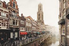 Autumn in Utrecht (Sebastian Grote) Tags: netherlands utrecht historic old city domtoren church kerk canal