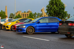 Colorful. (drift.pking) Tags: sunday car carmeet fast cars automotive photography sialkot sialkotiracers punjab pakistan mitsubishi lancer evo daihatsu coupen civic honda toyota vitz love eg egnation lowlife dropped dk