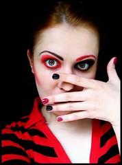 Random old stuff (haidem3) Tags: self portrait red black makeup