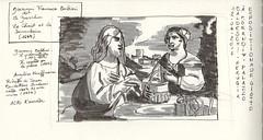 Giovanni Francesco Barbieri (Guercino) : Le Christ et la Samaritaine, 1647 (paox34) Tags: styloplume couleursduquai italie art leguerchin feutres fountainpen italy musées museums perugia brushpen