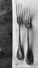 Forks ((Imagine) 2.0) Tags: bw blackandwhite monochrome explored stilllife 2017