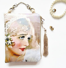 Flapper girl wallet.. (Jigglemawiggle) Tags: waterproofpouch flappergirl gibsongirls roaringtwenties 20s 1920s itgirl artdeco twenties hangingbag folksy ministorage etsy