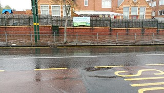 Hail rain in Acocks Green - Westley Road - Acocks Green Primary School