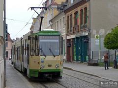 Brandenburg/Havel (D) (Robert Leichsenring) Tags: brandenburg strassenbahn streetcar strasenbahn tramway tramwaj tatra kt4d deutschland трамвай германия germany tatrawagen