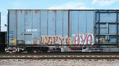Navy8/Eye (quiet-silence) Tags: railroad eye art train graffiti flat railcar boxcar graff mayhem freight gtw navy8 dethkult fr8 autoparts