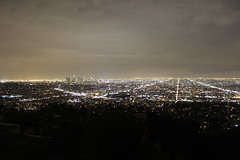 Night Skyline (Aidan R. Smith) Tags: city night los angeles observatory griffith
