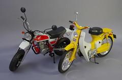 HONDA Super Cub C100 (1/12 FUJIMI) (hoge.pics) Tags: car honda automotive motorbike vehicle 日本 112 車 supercub plamo 模型 バイク fujimi c100 カブ プラモデル jfigure 車両 japanesefiguresandmodels フジミ hogepics ほげpics