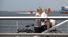 Walkin' The Bikes (brandsvig) Tags: bridge june boat skåne women flickr sweden harbour photowalk sverige bro malmö flickrmeet ef öresund hamn canon500d 18135 2013 universitetsbron pilot23se