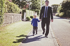 Walking home from school (@SJA Photography) Tags: street family school boy home dad child walk father son parent schoolrun dadd