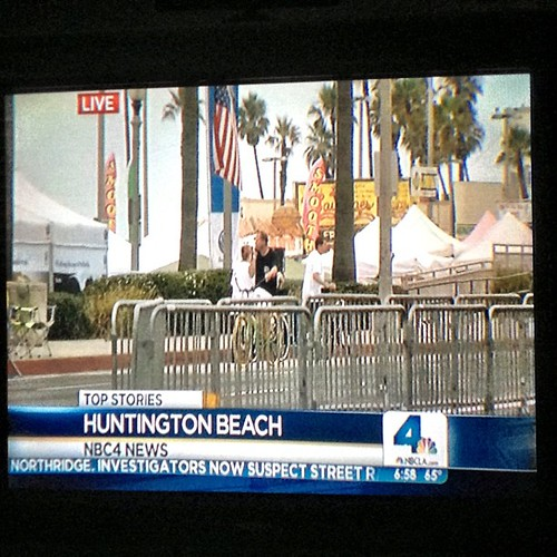 #KNBC already reporting from #HB: home of the largest #july4th parade in the West! #SurfCityUSA