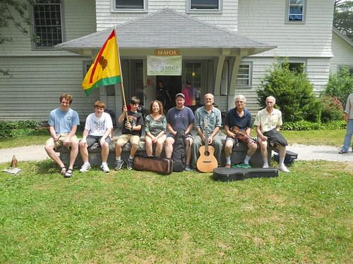 Troy MacGillivray with Acadia Trad School Students, July 2013