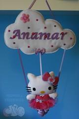 Kitty bailarina para a Anamar (Mimos & Feltrices) Tags: hello kitty rosa felt gato quarto feltro menina bailarina gatinha enfeite