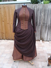 LB Brown Linen Suit (TheAntiqueSewist) Tags: dress cosplay victorian suit late gown bustle sass steampunk 1880s