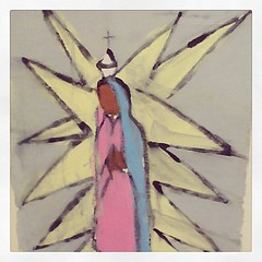 """""""Untitled - Our Lady of Guadalupe"""", serigraph, circa 1957. (DeGrazia Gallery in the Sun) Tags: our arizona sun ted art valencia lady square artist gallery desert tucson az virgin adobe squareformat guadalupe degrazia catalinas serigraph ettore iphoneography instagramapp uploaded:by=instagram"""