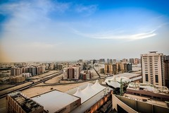 From the Top (Waheed Akhtar Photography) Tags: blue sky architecture buildings landscape dubai united uae emirates arab sharjah landscapephotography