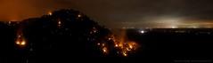 The Mountains Are Ablaze || LYNCH'S CREEK (rhyspope) Tags: light red orange mountain night canon dark fire pano smoke australia flame aussie controlledburn bushfire 500d yarramundi winmalee rfs hazardreduction hawkesburyheights rhyspope lynchscreek