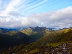 Lovely views (oldmanmackie) Tags: mountain beautiful landscape scotland highlands scenery hiking hill scenic scottish hillwalking munro glenshiel munrobagging southshielridge druimshionnach aonachairchrith cluanieinn bestofscotland maolchinndearg creagnandamh creagamhim haggismunchers uploaded:by=flickrmobile flickriosapp:filter=nofilter sgrrandoireleathain sgrranlochain