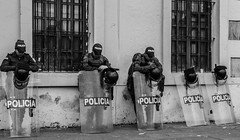 Seguridad para el pueblo? - O para todo el Gobierno? (Mysantropia) Tags: blackandwhite bw white black blancoynegro blanco church monochrome monocromo march nikon colombia bogota flickr cops bogot negro iglesia custody security monotone bn masks capitol descansar celular capitolio uniforms care mobilization seguridad gastanks marcha caretas gases gaitan april9 movilizacin policias uniformes capitolionacional marchaporlapaz cuidar monotono nationalcapitol tanquetas 9deabril custodiar peacemarchcellrest