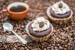 Coffee Cupcakes (Cristian Sabau) Tags: food brown black coffee breakfast dark studio dessert cafe beige cookie colombian sweet chocolate tasty spoon bean gourmet delicious cupcake sprinkles mocha icing espresso taste incentive muffin caffeine aromatic lowkey luxury isolated frosting roasted aroma calories scented coffebeans wwwcristiansro