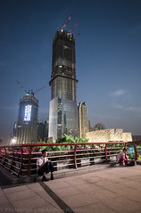 little thing (matteroffact) Tags: guangzhou china city light urban architecture modern night buildings construction nikon asia skyscrapers dusk andrew future cbd futuristic highrises d800 supertall matteroffact rochfort andrewrochfort d800e