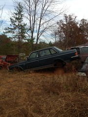 Volvo 240 (blue65pv544) Tags: volvo nc north carolina salem junkyard winston 240 242 245 244