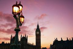 Big Ben Sunset (andrei_mole) Tags: bridge sunset london colors clouds lights streetlight sony housesofparliament bigben tones 2013 nex6